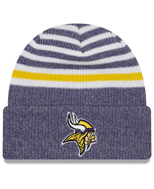 New Era. Minnesota Vikings Striped Cuff Knit Hat. Be the first to Write a  Review. main image  main image 72e46a2f5