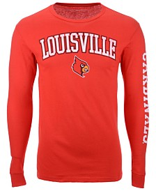 Colosseum Men's Louisville Cardinals Midsize Slogan Long Sleeve T-Shirt