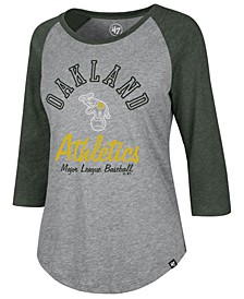 Women's Oakland Athletics Imprint Splitter Raglan T-Shirt