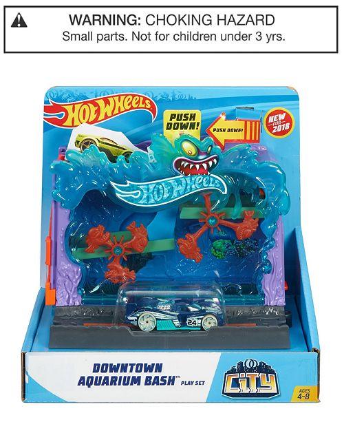 84f8f524222c3 Hot Wheels City Downtown Aquarium Bashplay Set   Reviews - Home - Macy s