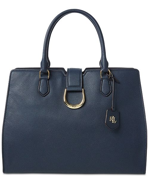 Lauren Ralph Lauren Large Kenton Leather Tote, Created for Macys