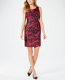 Kasper Sleeveless Printed Sheath Dress