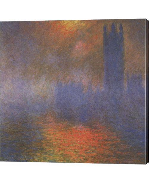 Metaverse Houses of Parliament by Claude Monet Canvas Art