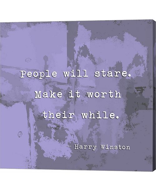 Metaverse People Will Stare, Quote by Harry Winston by Veruca Salt Canvas Art