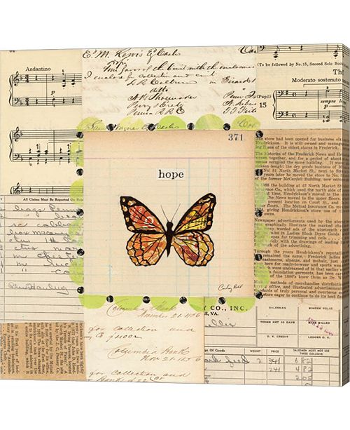 Metaverse Hope Butterfly by Courtney Prahl Canvas Art