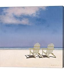 Beach Chairs by Zhen-Huan Lu Canvas Art