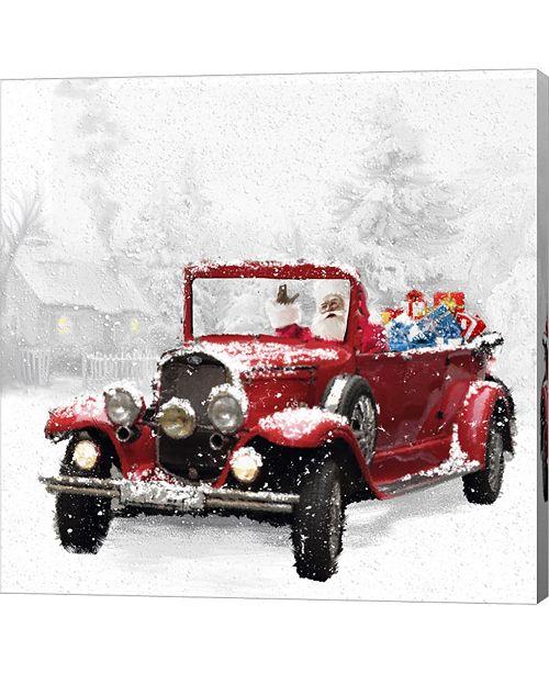 Metaverse Santa's Red Classic Car by Dbk-Art Licensing Canvas Art