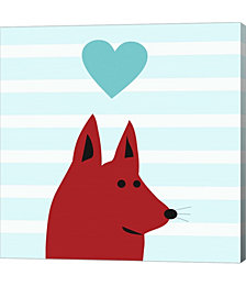 Happy Red Dog Love by Carla Martell Canvas Art