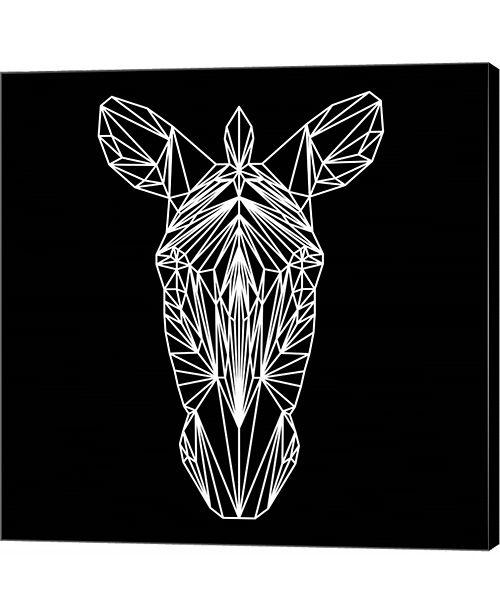 Metaverse Zebra on Black by Lisa Kroll Canvas Art