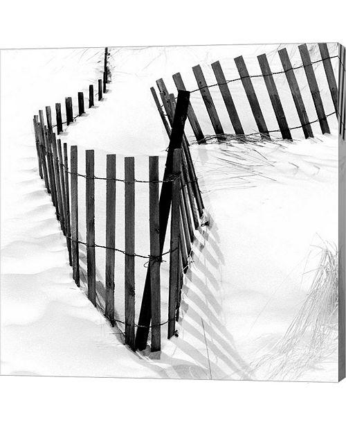 Metaverse Snow Fence Single by Harold Silverman Canvas Art