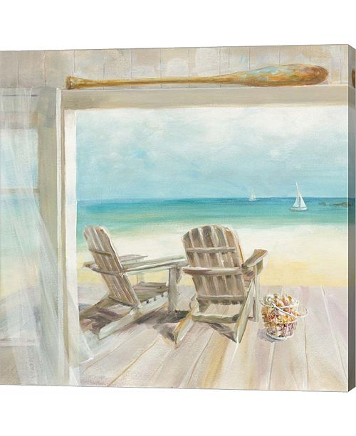 Metaverse Seaside Morning Crop by Danhui Nai Canvas Art