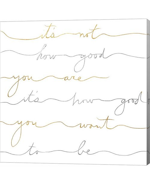 Metaverse How Good Silver and Gold by Lisa Powell Braun Canvas Art