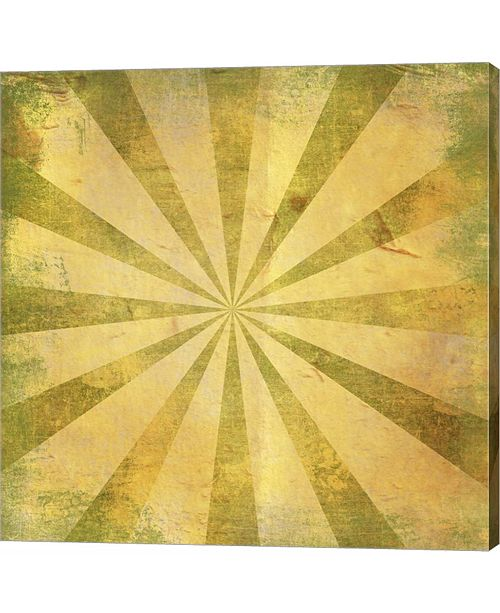 Metaverse Yellow Sunburst Grunge by Marcee Duggar Canvas Art