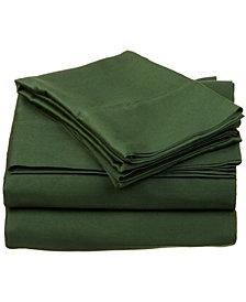 Superior 400 Thread Count Premium Combed Cotton Solid Sheet Set - Full