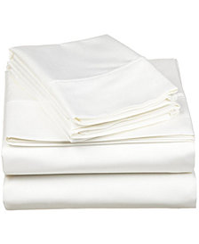 Superior 530 Thread Count Premium Combed Cotton Solid Sheet Set - Queen - White
