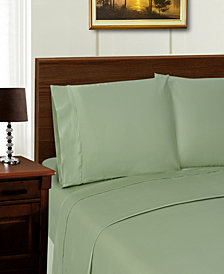 Superior 1000 Thread Count Tencel, Polyester Solid Sheet Set - White