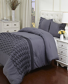 Superior Arabella Collection Wrinkle Resistant Down Alternative 3 Piece Comforter Set