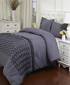 Superior Arabella Collection Wrinkle Resistant Down Alternative 2 Piece Comforter Set