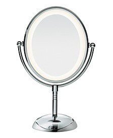 Oval LED Lifetime Lighting Double-Sided Mirror