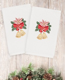 Christmas Bells 100% Turkish Cotton 2-Pc. Hand Towel Set