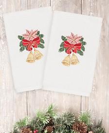 CLOSEOUT! Linum Home Christmas Bells 100% Turkish Cotton 2-Pc. Hand Towel Set