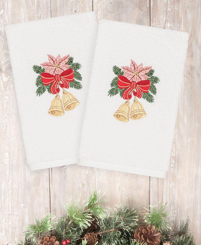Linum Home - Christmas Bells 100% Turkish Cotton 2-Pc. Hand Towel Set