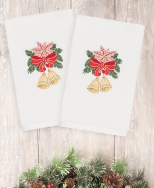 Image of Closeout! Linum Home Christmas Bells 100% Turkish Cotton 2-Pc. Hand Towel Set Bedding