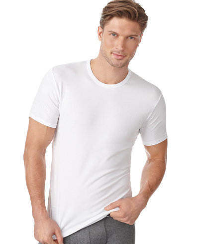 Calvin klein men 39 s cotton stretch crew neck undershirt 2 for Polo shirt with undershirt