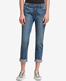 DKNY Soho Distressed Boyfriend-Fit Jeans, Created for Macy's