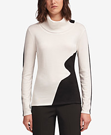 DKNY Wavy Colorblocked Sweater, Created for Macy's