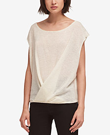 DKNY Drape-Front Sweater, Created for Macy's