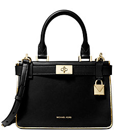 MICHAEL Michael Kors Tatiana Metallic Trim Small Satchel