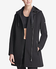 DKNY Sport Long Hooded Scuba Jacket, Created for Macy's