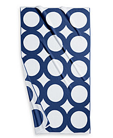"Hotel Collection Circle Turkish Cotton 40"" x 70"" Geo Resort Towel, Created for Macy's"
