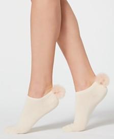Lemon Chalky Pom Pom Socks