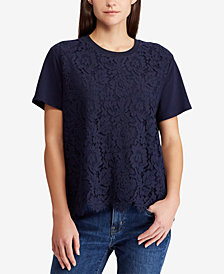 Lauren Ralph Lauren Lace-Front Shirt