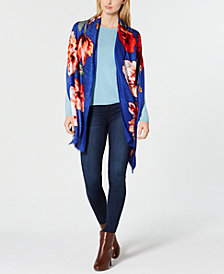 I.N.C. Floral Bouquet Super-Soft Scarf & Wrap, Created for Macy's