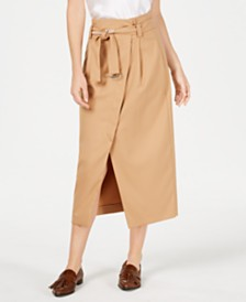 Marella Isolana Wrap-Front Knee-Length Skirt