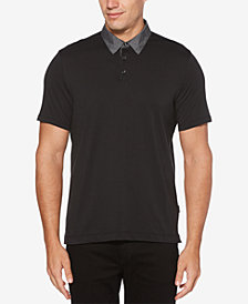 Perry Ellis Men's Chambray-Collar Polo