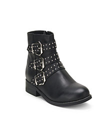 Wanted Atherton Triple Buckle Studded Bootie