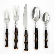 Bamboo 20-Piece Flatware Set, Service for 4