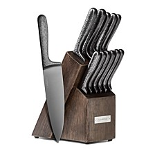 Silversmiths Nero 12-Piece Cutlery Set with Knife Block