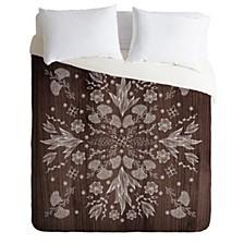 Iveta Abolina White Floral King Duvet Set