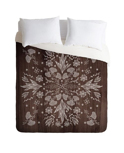 Deny Designs Iveta Abolina White Floral King Duvet Set