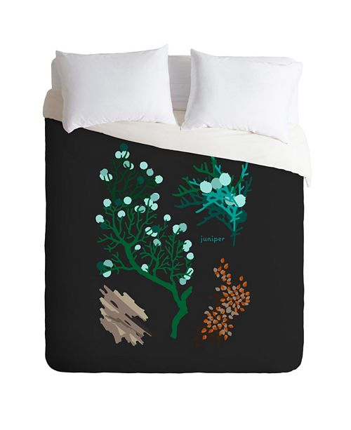 Deny Designs Holli Zollinger Desert Botanical Juniper Queen Duvet Set