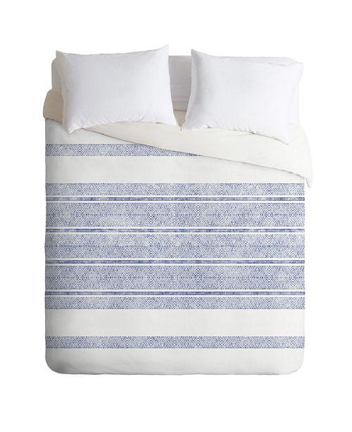 Deny Designs Holli Zollinger Capri Stripes Twin Duvet Set