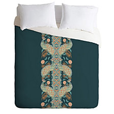 Deny Designs Holli Zollinger Chateau Peacock Twin Duvet Set