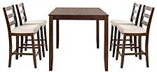 """Giani Retro 5 Piece Pub Set, (24.3"""" Dining Table & 4 Side Chairs)"""