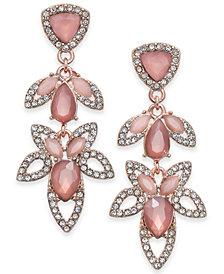 I.N.C. Crystal Open-Work Drop Earrings, Created for Macy's