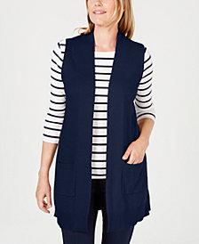 Karen Scott Petite Sweater Vest, Created for Macy's
